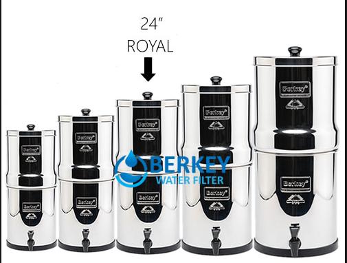 Royal Berkey Dimensions